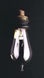 A light bulb from the Smithsonian collection.