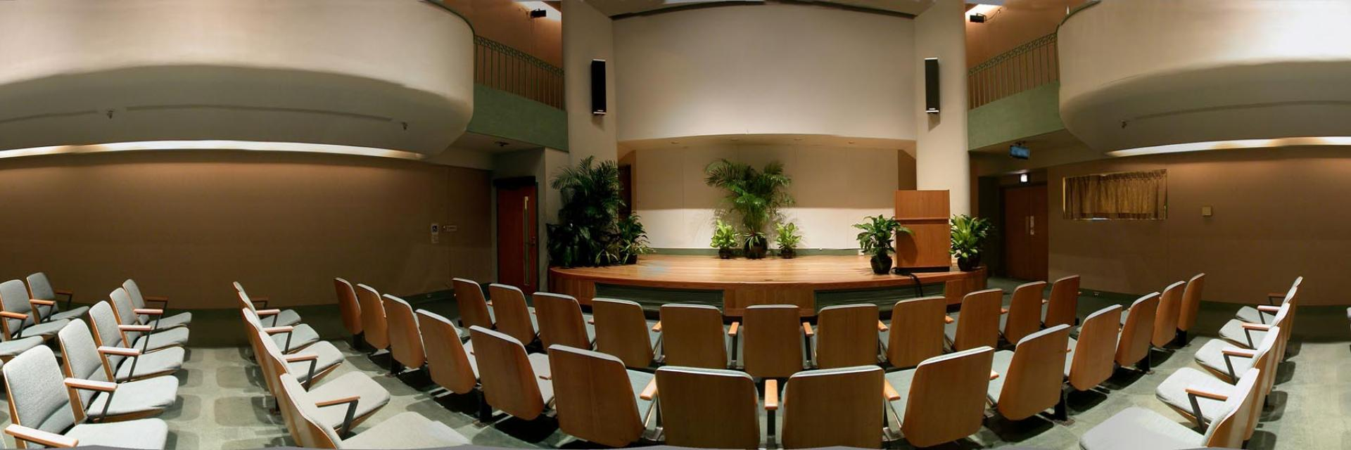 An image of a lecture hall on the Smithsonian Campus.