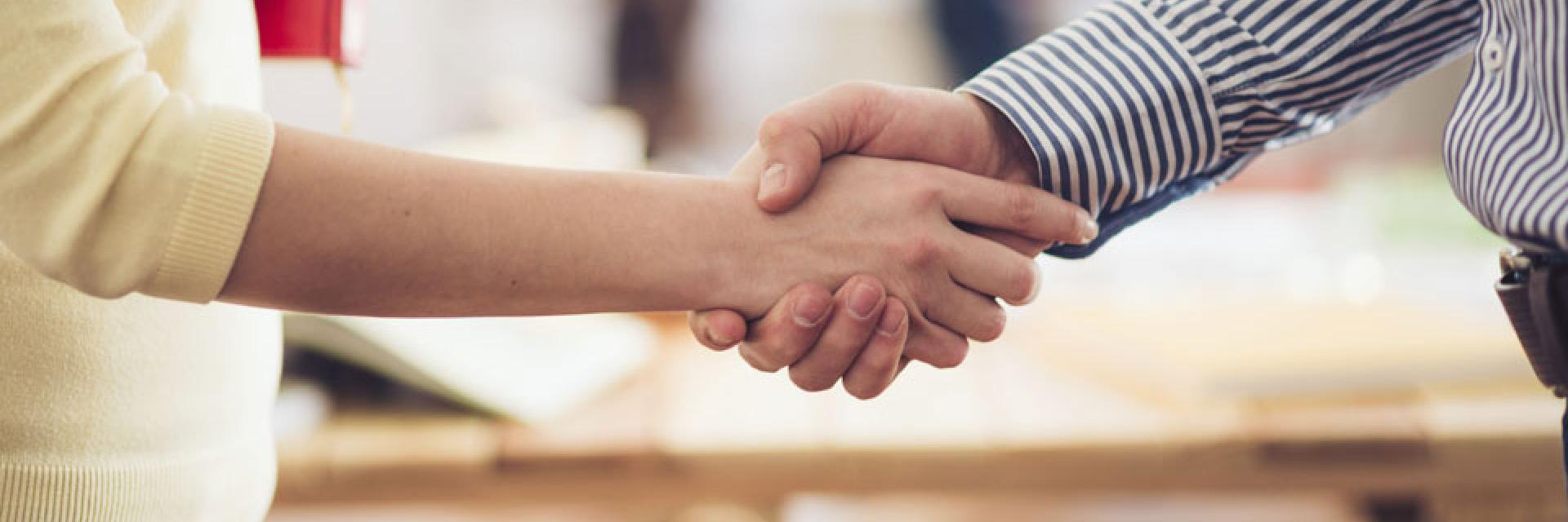 Image of a handshake.