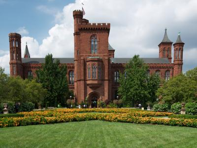 The Smithsonian Castle, seen from the south.